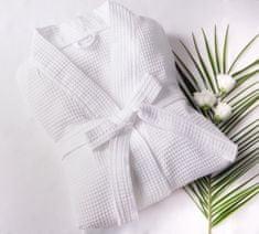 Saffran Vaflový župan kimono bílý, 220 gr - L