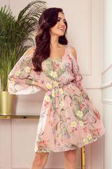 Numoco Dámske šaty 292-1 MARINA + Nadkolienky Gatta Calzino Strech, viacfarebná, XL