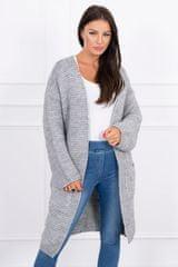 Kesi Pletený cardigan s kapucí, šedivá, velikost Universal