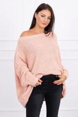 Kesi Široký svetr, oversized, světle růžová, velikost Universal