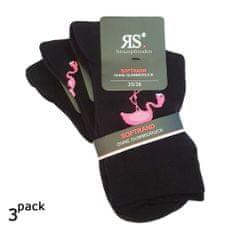 RS Dámské jednobarevné módní bavlněné zdravotní ponožky plameňáci 1198820 3-pack - 35-38