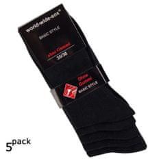 RS Dámské bavlněné zdravotní černé ponožky 12712 5-pack - 35-38