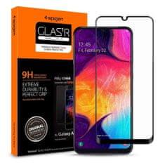 Spigen Full Cover zaščitno steklo za Samsung Galaxy A40, črna
