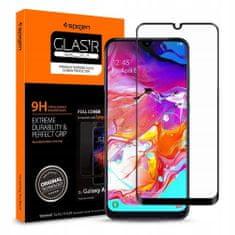 Spigen Full Cover zaščitno steklo za Samsung Galaxy A70, črna