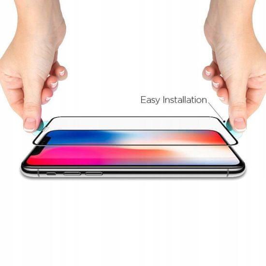 Spigen Full Cover zaščitno steklo za iPhone 11 / XR, črna