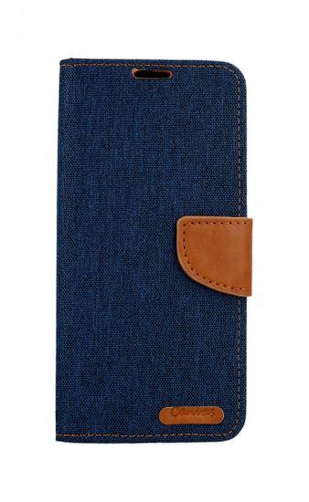 Canvas Pouzdro Samsung A9 knížkové modré tmavé 40827