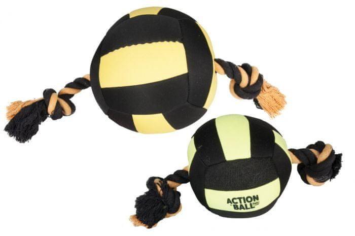 Karlie hračka akční balón černý/žlutý, 18 cm