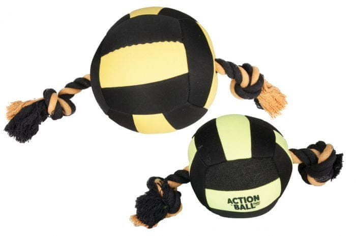 Karlie Hračka akční balón, černý/žlutý, 13 cm