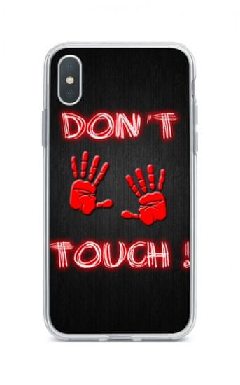 TopQ Puzdro iPhone XS Max silikón Dont Touch Red 34015