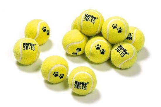 Karlie piłki tenisowe dla psa 6 cm, 12 szt.