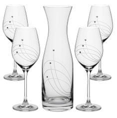 Celebration VITAL SET fľaša + kalichy na víno 30538 Swarovski® (1+4KS)