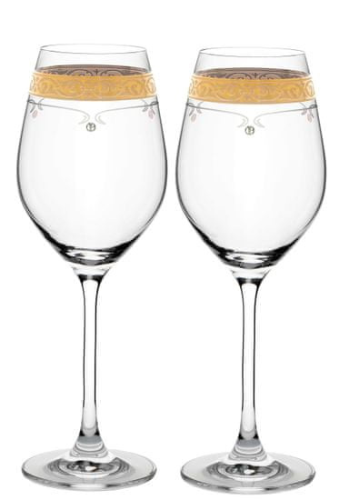 Royal GOLD Kalich na víno 360ml 40352 Swarovski® (2KS)