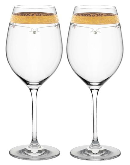 Royal GOLD Kalich na víno 470ml 40352 Swarovski® (2KS)