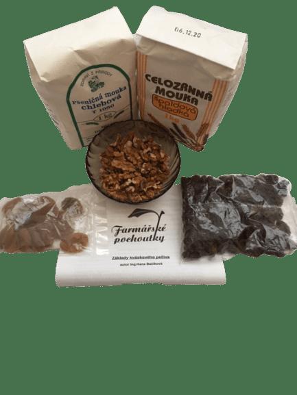 Balíček 2.- surovin pro domácí kváskové pečení sladké + ZDARMA návod na výrobu kvásku a recept