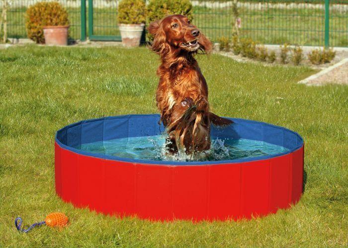 Karlie skládací bazén pro psy modro/červený 80x20 cm