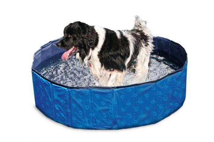 Karlie bazén, modrý/černý, 120x30 cm