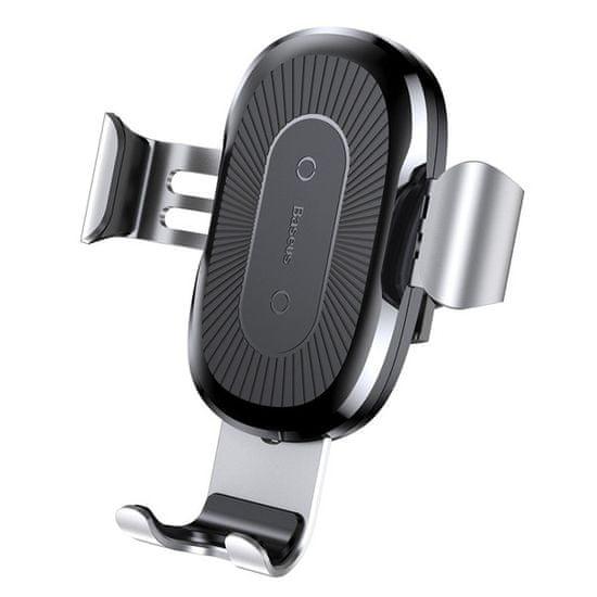 BASEUS Wireless Charger Gravity magnetni avtomobilsko držalo, Qi charger, srebrna