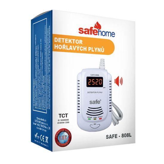 Safe Home Detektor hořlavých a výbušných plynů SAFE 808L (zemní plyn)