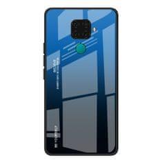 MG Gradient Glass plastika ovitek za Huawei Mate 30 Lite, črna-modra