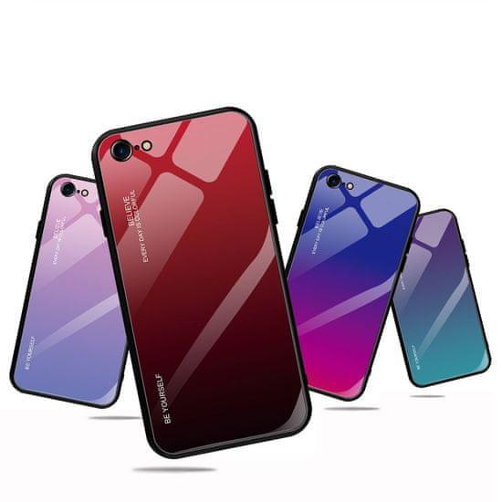 MG Gradient Glass plastika ovitek za iPhone 7/8/SE 2020, modra/vijolična