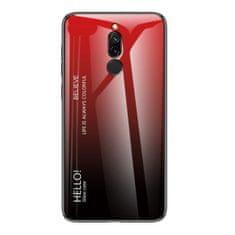 MG Gradient Glass plastika ovitek za Huawei P20 Pro, črna-rdeč