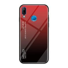 MG Gradient Glass plastika ovitek za Huawei P20 Lite, črna-rdeč