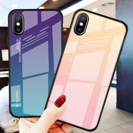 MG Gradient Glass plastika ovitek za iPhone XS/X, roza