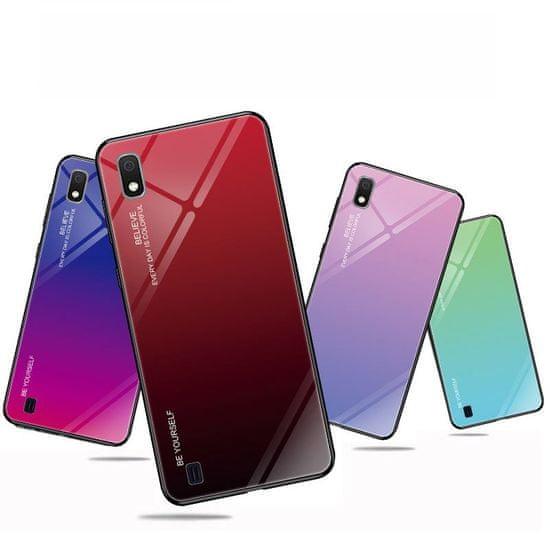 MG Gradient Glass műanyag tok Samsung Galaxy A10, kék-lila