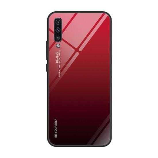 MG Gradient Glass műanyag tok Samsung Galaxy A50 / A50s / A30s, fekete/piros