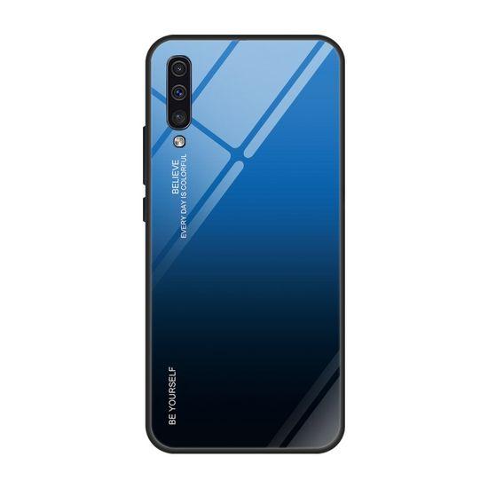 MG Gradient Glass plastika ovitek za Samsung Galaxy A50 / A50s / A30s, črna/modra