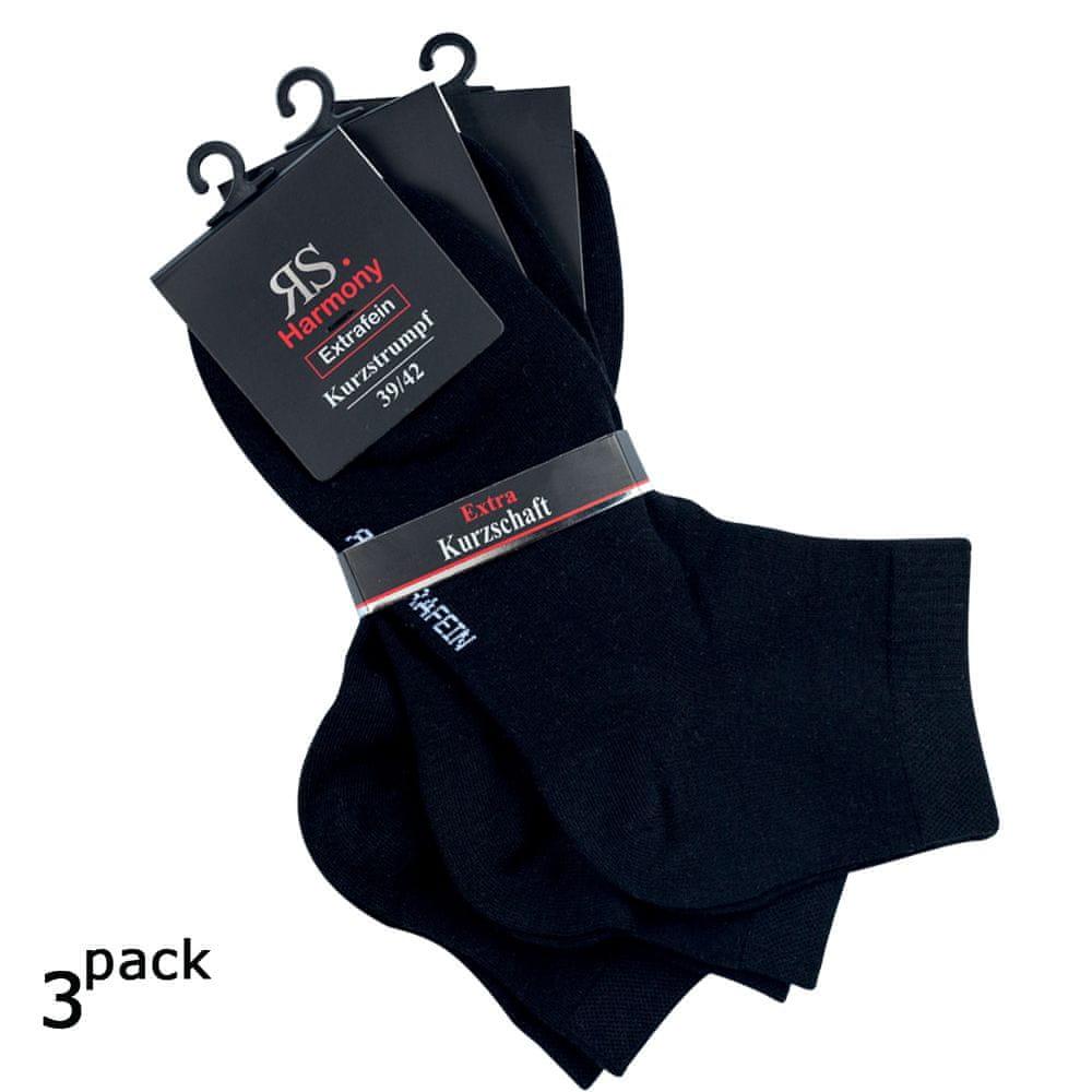RS Pánské bavlněné letní kotníkové jednobarevné hladké ponožky 3Pack - 39-42