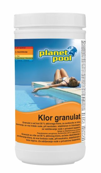 Planet Pool klor granulat, brzo otapanje, 1 kg (501601)