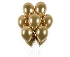 Gemar latexové balónky - chromové zlaté - 50 ks - 33 cm