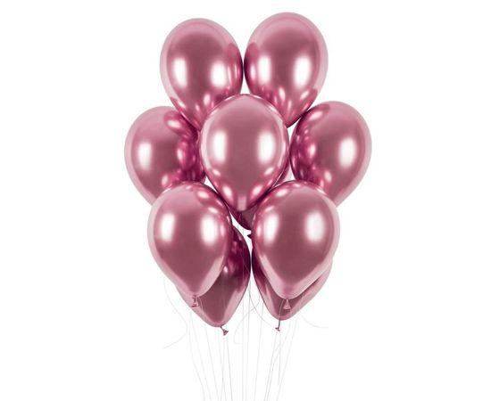 Gemar latexové balónky - chromové růžové lesklé - 50 ks - 33 cm