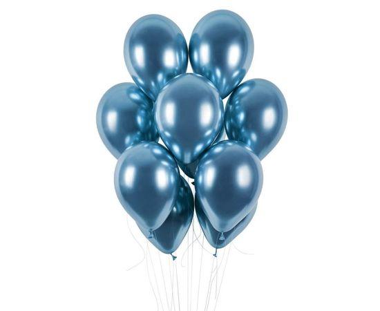 Gemar latexové balónky - chromové modré lesklé - 50 ks - 33 cm