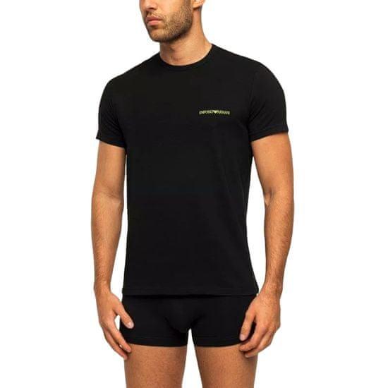 Emporio Armani Pánské tričko 2pcs 111267 9A717 07320 černá - Emporio Armani