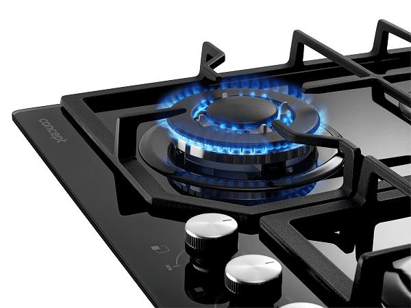 Vestavná plynová deska Concept PDV7460bc WOK hořák