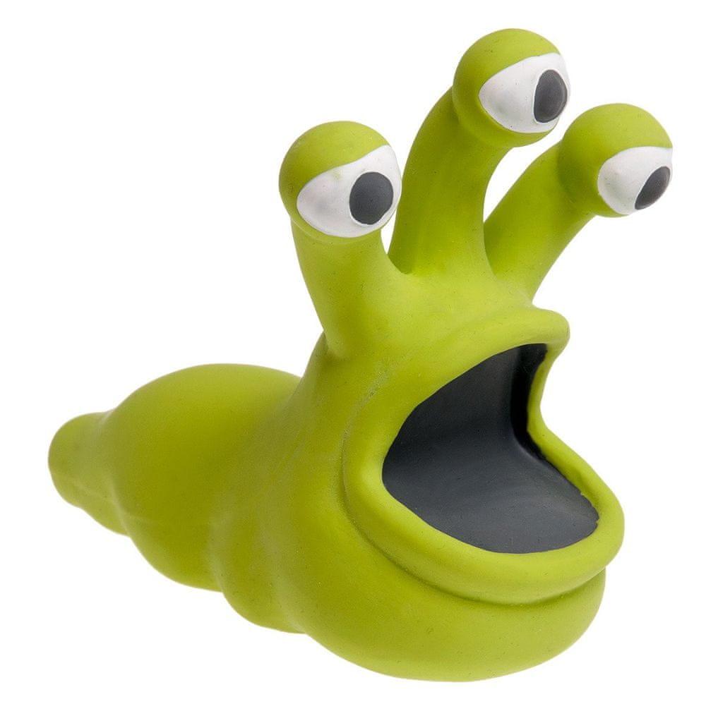 Karlie hračka pro psy monstrum latexová pískací, zelená 14x12 cm