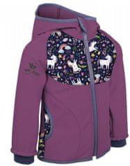 Unuo kurtka dziewczęca softshell z polarem Jednorożec 74 - 80 fioletowa