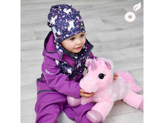 Unuo kurtka dziewczęca softshell z polarem Jednorożec