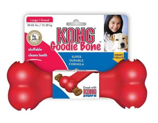 Flamingo Goodie Bone igrača za pse, M, rdeča
