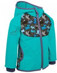 Unuo kurtka chłopięca softshell z polarem Pieski 74 - 80 niebieska