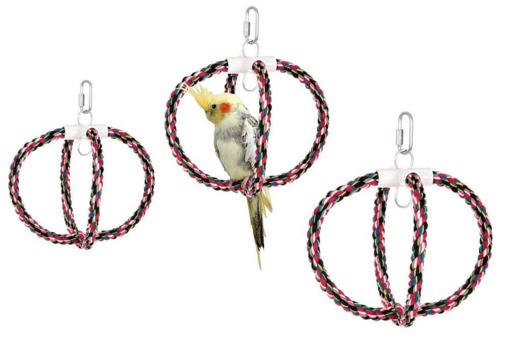 Karlie závěsná bavlněná houpačka pro ptáky, průměr 24 cm