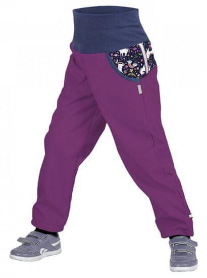 Unuo spodnie dziewczęce softshell z polarem Jednorożce