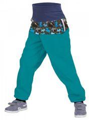 Unuo spodnie chłopięce softshell SLIM z polarem Pieski 86 - 92 niebieskie