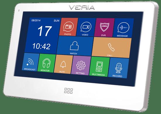 Veria LCD monitor videotelefonu VERIA 7077B bílý