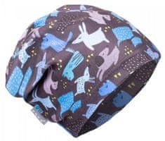 Unuo chlapecká fleecová čepice Pejsci XS modrá
