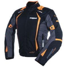 Cappa Racing Bunda moto AREZZO textilná čierna / oranžová L