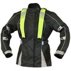 Cappa Racing Bunda moto dámska CORDURA textilná čaná / sivá L