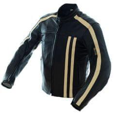 Cappa Racing Bunda moto pánská STRIPES kožená černá/béžová XL